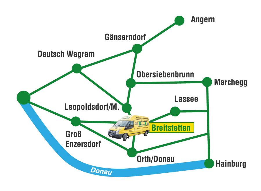 Anfahrtsplan brunner Hydraulik